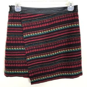 Forever 21 Faux Wrap Mini Skirt - Size Small